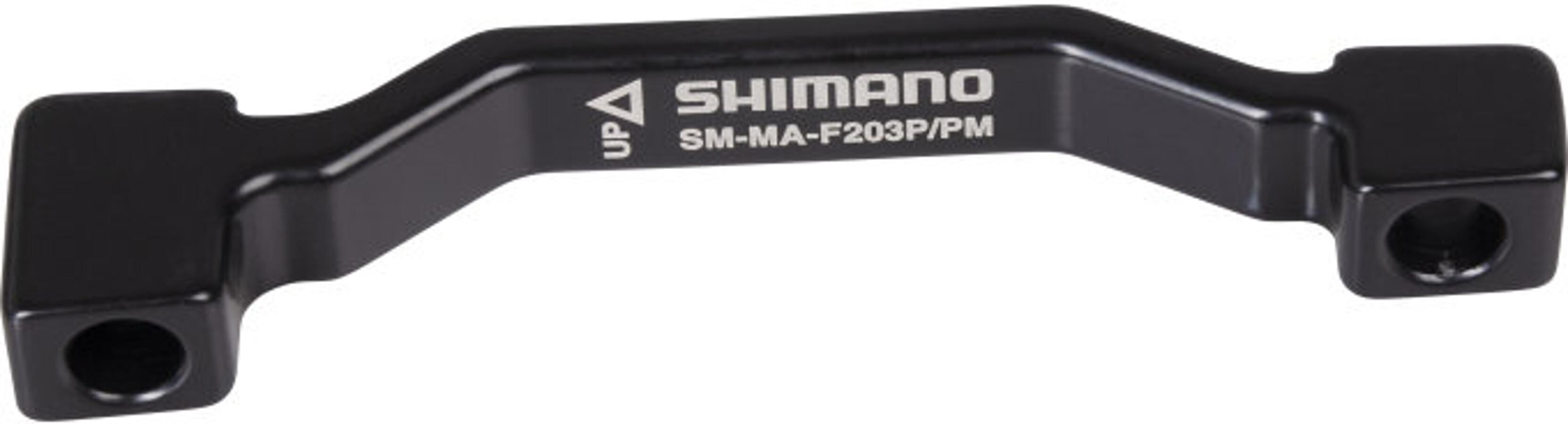 SHIMANO Brems Adapter VR für 203mm Scheibe von PM-Bremssattel auf IS-Gabel